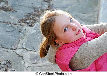 Girl portrait outdoor