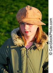 Girl portrait outside