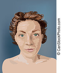 Girl portrait sketch
