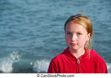 Girl portrait water