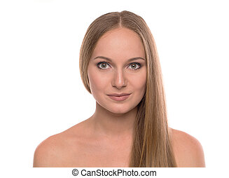 Girl portrait with smile.