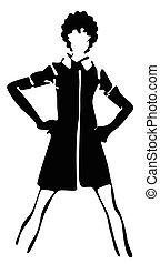 girl posing fashion silhouette