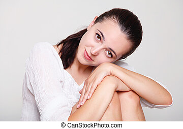 girl posing in the Studio
