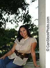 Girl Posing With Pilar (Multiuses) 3