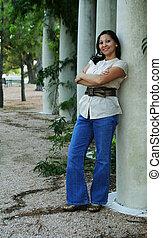 Girl Posing With Pilar (Multiuses) 4