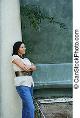 Girl Posing With Pillar (Multiuses) 7