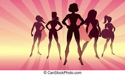 Girl Power Animation - Conceptual animation depicting team...