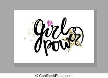 Girl Power Colorful Graffiti Vector Illustration