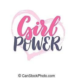 Girl Power Lettering.