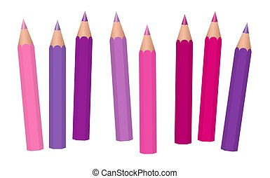 Girl Power Pencils Pink Crayons