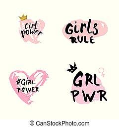 Girl power set.