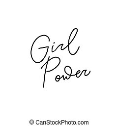 Girl Power shirt quote lettering