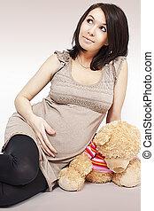 girl, pregnant
