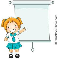 Presentation - Girl Presentation with Clipping Path