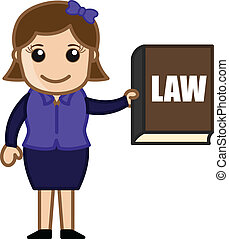 Girl Presenting Law Book Vector