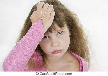 Girl Princess sad.