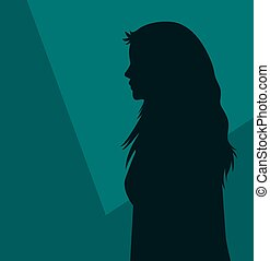 Girl Profile Silhouette