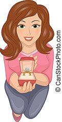 Girl Propose Ring