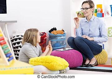 girl, psychologue
