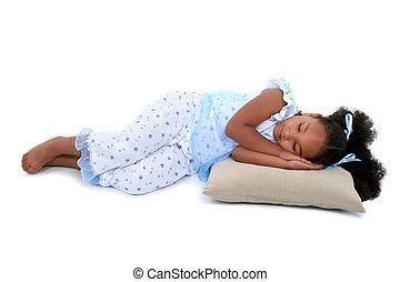 girl, pyjamas, enfant