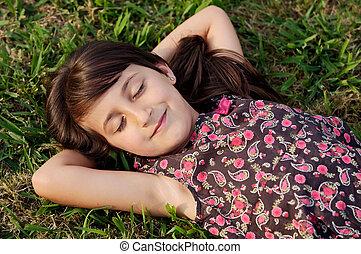 Girl relaxed