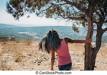 Girl resting in summer