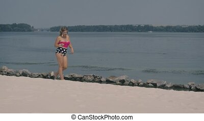 Girl resting on the beach 3