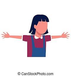 Girl running cartoon