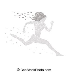 girl running women