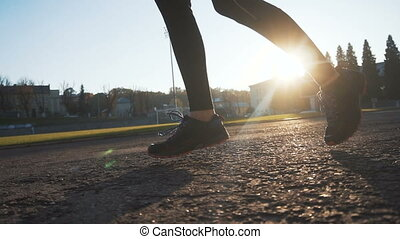 Girl Runs on Sunny Day