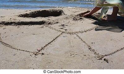 Girl sand artist
