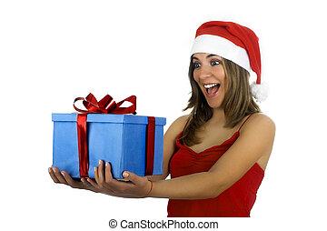 girl, santa, dons