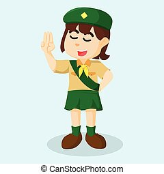 Girl scout salute