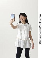 girl, selfie