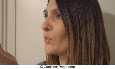 Girl sending a kiss
