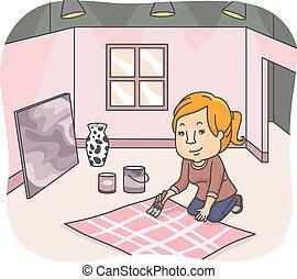 Girl Set Designer
