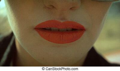 girl sexy biting lips - hot girl sexy biting lips close up