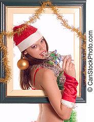 girl, sexy, santa