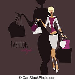 girl., shopping donna, moda, bags.