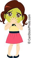 Girl Sick With Nausea - Cute little girl sick with nausea ...