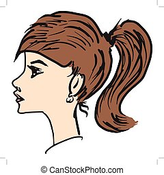 girl, side view