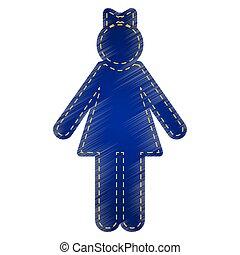 Girl sign illustration