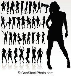 girl silhouette in black color