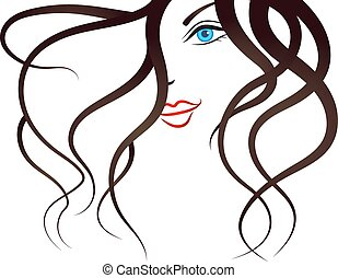girl, silhouette, jeune, figure