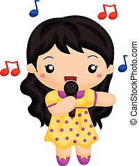 Girl singing a song