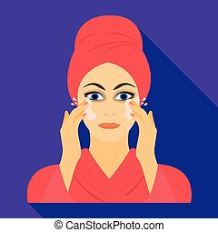 Girl, single icon in flat style.Girl vector symbol stock illustration web.