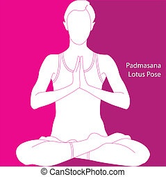 Girl sitting in the lotus position - padmasana