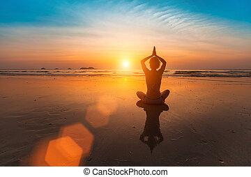 Girl sitting in yoga pose