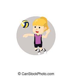 Girl smash volley ball