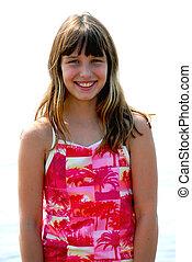 Girl smile portrait